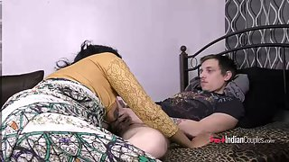 Indian Big Tits Babe Lily Sucking Partner's Cock