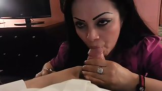 Horny Babe Sucking Cock For Cum Licked